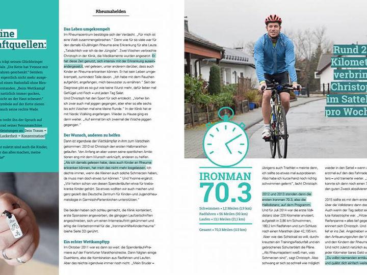 """""""HELDEN – Das Magazin für Patienten mit Rheuma"""" mit einem Bericht über unser Spendenprojekt"""