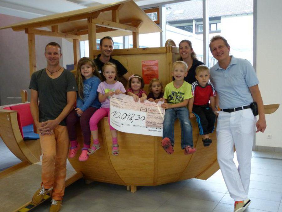 Ironman Hilde Kinderrheuma - Scheckübergabe 2014 - Spendensumme 10.098,30 Euro