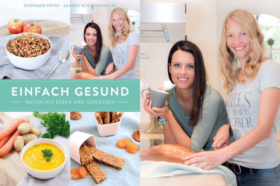 """Stephanie Päthe und Sandra Schlichenmaier (Geschäftsführerinnen TIME2TRI und Autorinnen des Buches) spenden für jedes verkaufte Kochbuch """"Einfach Gesund - Natürlich Essen und Genießen"""" 1 € an die Ironman-Hilfe Kinderrheuma."""